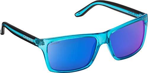 Cressi Unisex-Erwachsener Rio Sunglasses Sport Sonnenbrille Linsen Polarisiert und Antireflexion Sorgen für 100{6c148c6b722ac620fb64429d67c41d800a7dfaec74868a09ea0813b9dcbf78fa} igen Schutz vor UV-Strahlen, Crystal/Lenses Blau Verspiegelt, Einheitsgröße