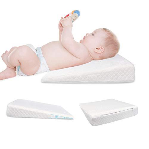 STRIR Cuña Antireflujo bebe   Almohada inclinada para cólicos bebé - desenfundable) (A)