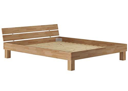 Erst-Holz Solido Extra Largo Matrimoniale/futon 180x200 in Faggio Oliato con doghe rigide 60.86-18