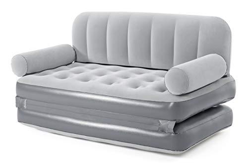 Bestway Schwimmflügel für Kinder 3-6 Jahre, sortiert Divano Gonfiabile Multi Max 2 in 1, Colore grigio chiaro, 75079