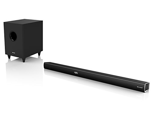 Sharp Soundbar HT-SBW260, 3.1, Wireless Home Theatre, Dolby Digital, HDMI ARC-CEC, 4K Pass Through, Bluetooth, Telecomando, 600 W, 96 cm