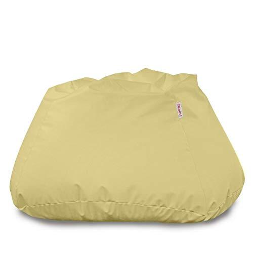 Italpouf Pouf Sacco Gigante XXXL Maximo, Poltrona Sacco Ecopelle, Puff Sacco Sfoderabile! Imbottito! Pouf A Sacco Tessuto Morbido (Crema)