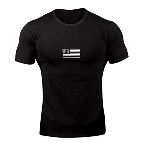 Hombres Verano Fitness Camiseta Manga Corta Sylar para Hombre Básico Cuello V Bandera Nacional Impreso Camisetas Moda Casual Delgada Transpirable Camiseta Deportiva Sudor Flexible Tops S-2XL