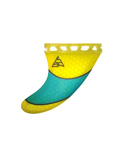 KSP Set 3 Pinne Future Yellow Honeycomb per TAVOLA da Kite Surf Kitesurf Future Wave