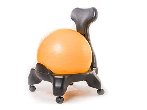 Kikka Active Chair Arancione - Sedia ergonomica con Pallone Gonfiabile