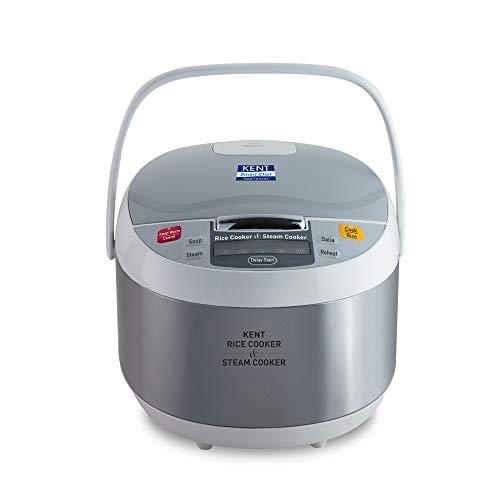 KENT Rice and Steam Cooker 860-Watt (Steel Grey)
