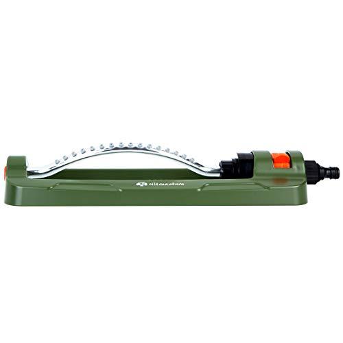 Ultranatura Viereck Sprinkler Easy Control, Variables Bewässerungssystem für Garten und Blumen, Beregnung für Gartenflächen bis 399 Quadratmeter Größe
