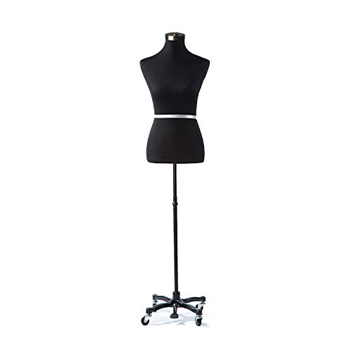 MH Mannequins House Black Dress Form for Display (8, 10, 12)
