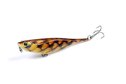 Llm-lure, 9,9 cm / 9,9 g Top Wobblers a Forma di Matita da Pesca Esca da Pesca Superficie Cane Camminatore Paiolo Ppper Popper for Outdoor Poper Ciprinidi Hardbait (Color : Light Grey)