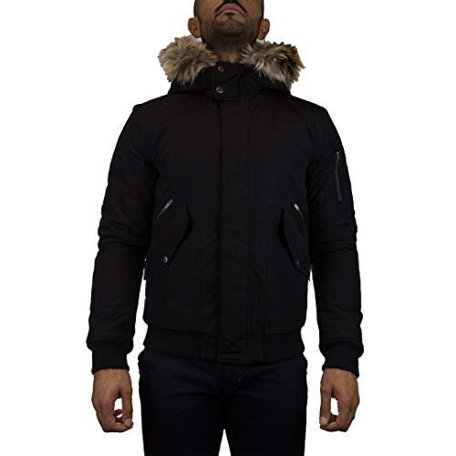 Penn-Rich Woolrich Giubbotto Nero Uniform Bomber L