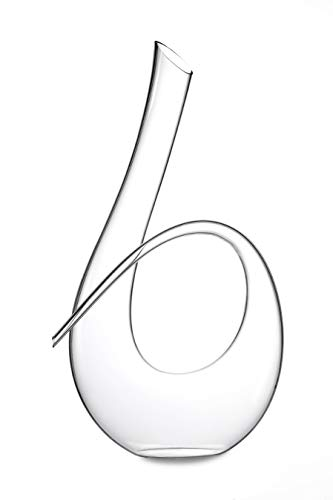 Twisted Horn Wine decanter di cristallo senza piombo decanter che tiene fino a 992,2 gram....