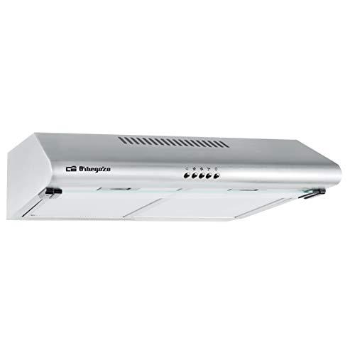 Orbegozo ST 07260 D IN - Cappa standard 60 cm, 2 motori 80 W, 3 livelli di potenza, 2 filtri in...