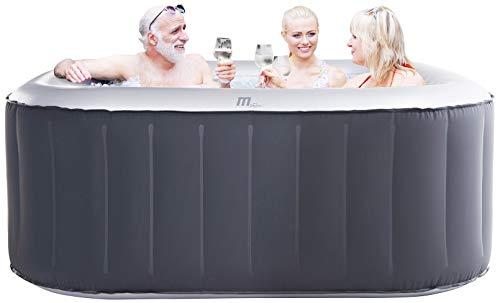 Miweba MSpa aufblasbarer Whirlpool Outdoor - 6 Personen - 132 Düsen - 185x185 cm - Tüv GS geprüft - Alpine D-AL06 - 930 Liter