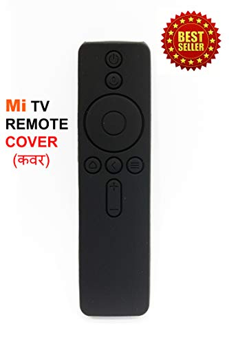 Anti Slip Silicone Protective Case/Cover for Xiaomi Mi TV Remote Controller (for MI TV-4A PRO(32, 49 & 55 INCH), Black)