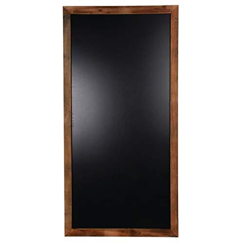 Lavagna nera da parete in legno anticato
