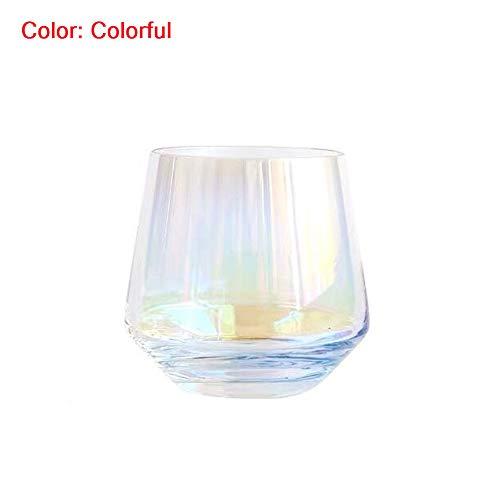 Bicchieri colorati da 350 ml, per acqua/succo/vino, perfetti per casa, ristoranti e feste, lavabili...