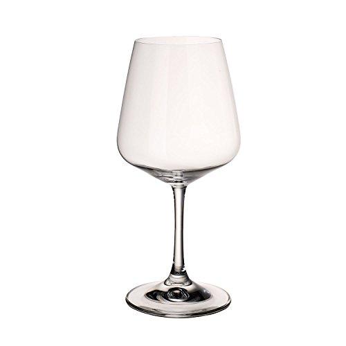 Villeroy & Boch Ovid Calici da Vino Rosso, 590 ml, Cristallo, Trasparente, Set di 4