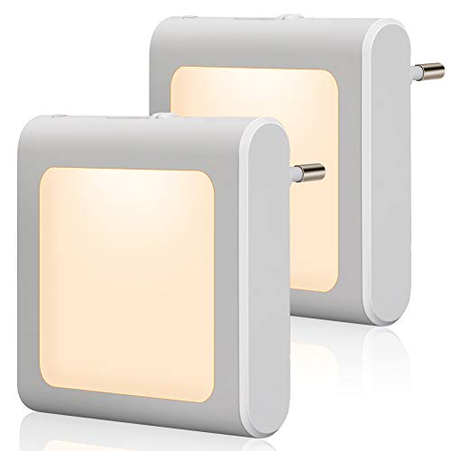 Presa di luce notturna con sensore crepuscolare, Emotionlite 2 pezzi Luminosità Regolabile in modo...