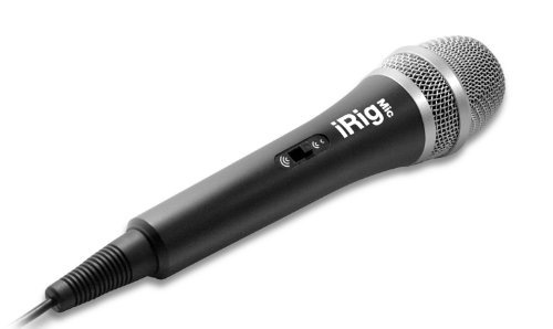 IK Multimedia iRig Mic Microfono Professionale Accessorio per iPhone/iPad/ iPod/Android Touch, Nero