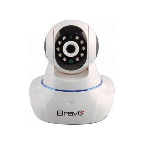TELECAMERA VIDEOSORVEGLIANZA IP BRAVO da interno connessione lan e wifi sensori infrarossi immagini alta qualità per pc e smartphone