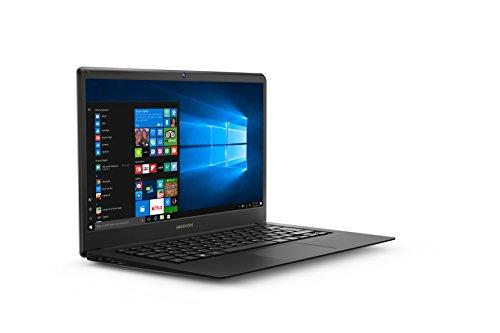 """MEDION MD61339 - Ordenador portátil de 14"""" Full HD (Intel Atom x5-Z8350, RAM de 4 GB DDR3, Disco Flash de 32 GB, Intel Graphics, Windows 10 Home) Plata negro oscuro"""