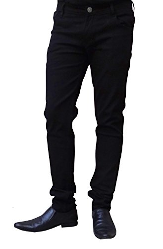 BEN CARTER Men's Cotton Stretchable Jeans (BCJN-REGULR-BLACK-ZB-30_30_Black)