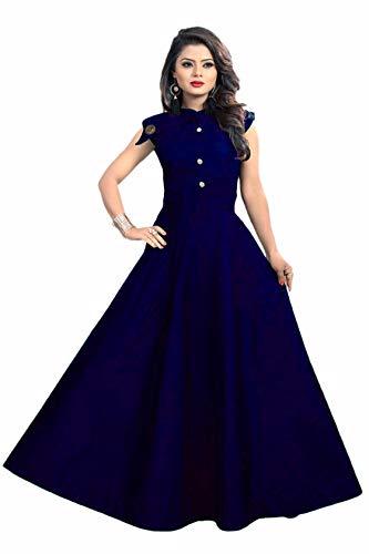 vaidehi creation Women's Tafeta Satin Anarkali Style Gown