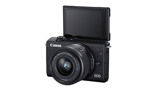 Canon EOS M200 Mirrorless Camera, EF-M 15-45mm f/3.5-6.3 is STM Lens, 24.1 MP, 16 GB Memory Card and Carry case