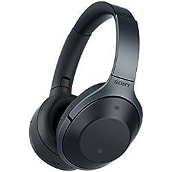 Sony MDR1000XB.CE7 - Auriculares de diadema inalámbricos cerrados con Bluetooth (Hi Res Audio, función reducción de ruido, voz ambiental y sonido ambiental, control táctil), color negro