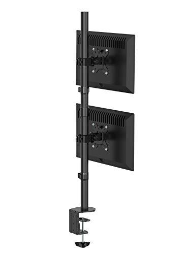 Bramley Power - Soporte de Doble Monitor para Pantalla de Ordenador o televisor de 13 a 30 Pulgadas (VESA Doble, inclinable, Giratorio y Giratorio)