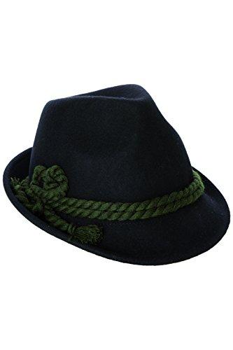 BavaRoi Schicker und Stillvoller Trachtenhut mit breiter Kordel. Fesch für die Dame zum Dirndl und zünftig für den Herrn zur Lederhose, Gr. 55-60, in den 4 aktuellen Trendfarben