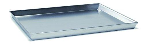 Ballarini 7044.60 Teglia Rettangolare, Angoli Svasati con Bordo in Alluminio Crudo, 60x40
