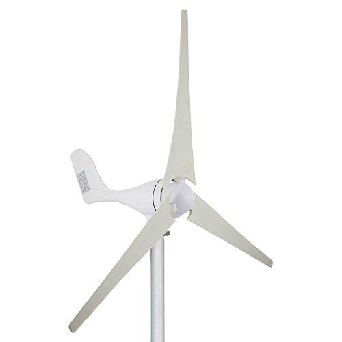 Cueffer 700 W 24V/ 200 W 12V Generador de turbina eólica Aerogenerador de 3 palas Generador de turbina de viento de controlador de carga MPPT para alimentación suplementaria Wind Turbine Generator (200 W 12 V)