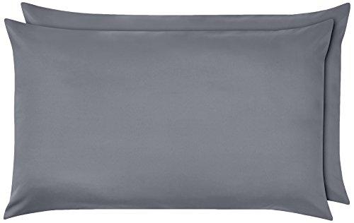 AmazonBasics - Federe in microfibra, 50 x 80 cm, Set di due - Grigio scuro