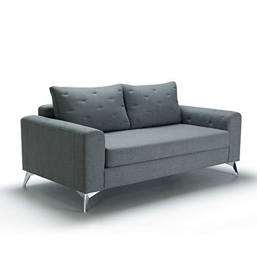 Marchio Amazon -Movian, divano 2 posti modello Jazz, colore grigio/verde