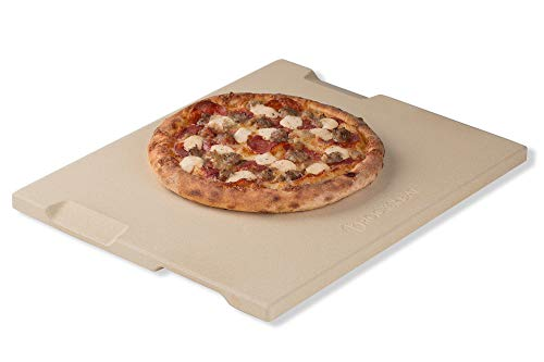 ROCKSHEAT Pietra per Pizza e Pane, 30 x 38 cm, per Forno e Grill, Innovativo Design a Doppio Lato...
