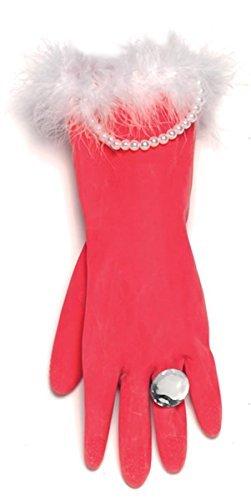 Spülhandschuhe in rot und mit Perlen 1