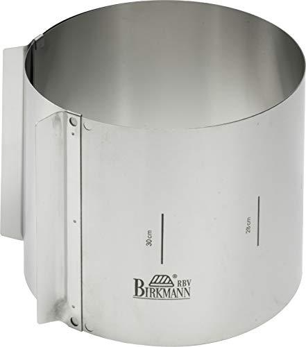 Birkmann Tortenring Easy Baking, Höhe 15 cm, verstellbar von Durchmesser 18 cm bis 30 cm