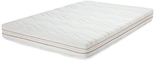 AmazonBasics - Materasso extra comfort a 7 zone in memory foam, Morbido (H2) - 160 x 190 cm