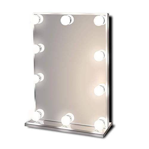 Hollywood Specchio per trucco illuminato vanitoso Hollywoodiano con luci a LED brillanti, Specchio...