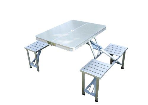 Tavolo Da Picnic Richiudibile A Valigetta Con 4 Seggiolini Incorporati.Outsunny 01 0010 Tavolino Da Campeggio O Da Picnic In