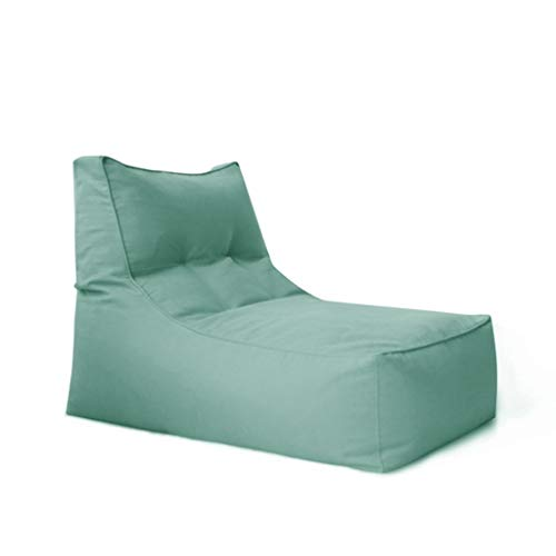 Classico Poltrona A Sacco Sedie for Adulti Semplice Poltrona Letto A Sacco (Color : Jasper, Size : No Footstool)