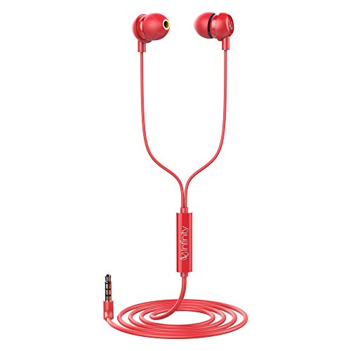 Infinity (JBL) Zip 20 in-Ear Deep Bass Headphones with Mic (Passion Red)