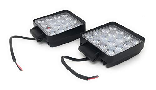 2 X 48W 4.3' work light 4560LM faro da lavoro a LED da usare come proiettore abbagliante...