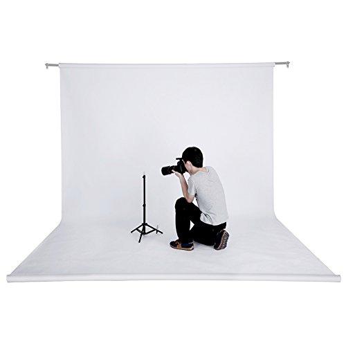 Neewer® 53 Zoll x 12 Yard / 1,36 M x 11 M Foto Studio Porträt Nahtlose Faltbare Hintergrund-Hintergrund-Papier für Fotografie, Video und Fernsehen (Weiß)