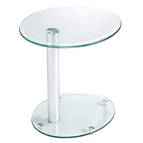 Rfiver mobili tavolino da caffè in vetro trasparente, tavolino, divano, tavolino, comodino, Nesting...