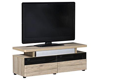 Marchio Amazon -Movian Spey - Mobile TV per TV fino a 55'', 120 x 42 x 45 cm, effetto quercia...