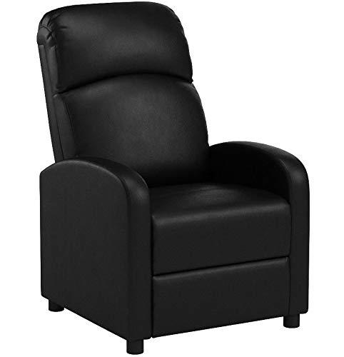 PRIXTON - Poltrona Relax Reclinabile / Poltrone Relax Reclinabile da Massaggio Elettrica Reclinabile con Funzione di Riscaldamento, Telecomando Incluso, Colore Nero, Dimensioni 65x89x101