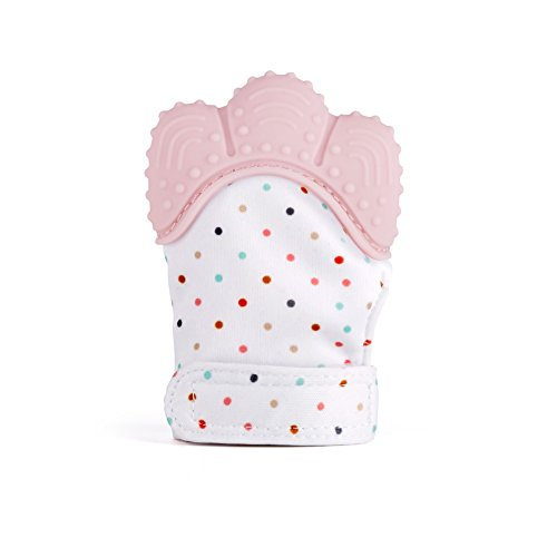 Shinegown Baby Teething Mittens guanto lenitivo sollievo dal dolore età 3 - 24 mesi in silicone...