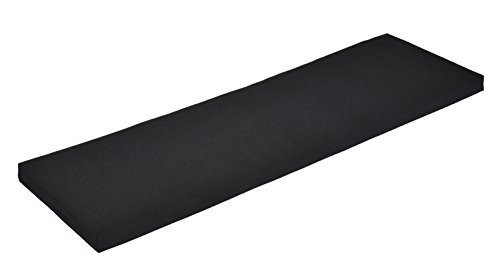Naturholzmöbel Seidel Bankauflage Bankkissen Bankpolster Sitzkissen 160x38cm Bezug schwarz mit Reissverschluss, Stoff Panama, waschbar bei 30° (schwarz)